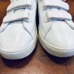 白い靴の手入れに
