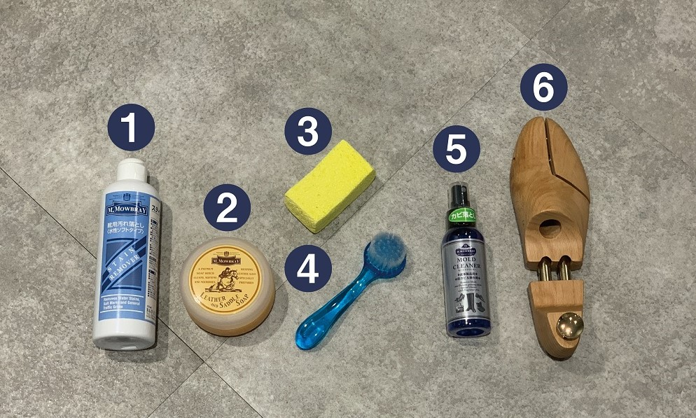 革靴(表革)の水洗い方法 -サドルソープの使い方-